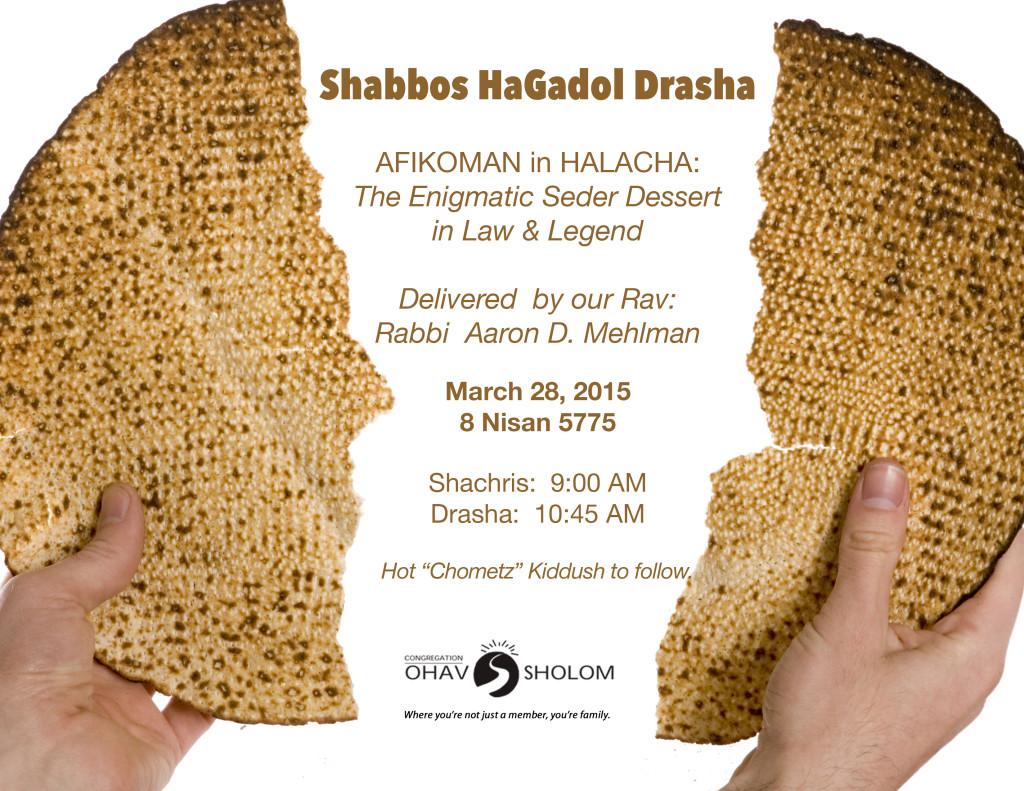 Shabbos Hagodol Drasha_2015